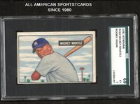 1951 BOWMAN MICKEY MANTLE ROOKIE HIGH #253 SGC GRADED 60 (5) EXCELLENT BEAUTIFUL