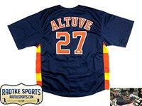 294d4b5376b Jose Altuve Autographed Signed Houston Astros Blue   Orange Custom Jersey