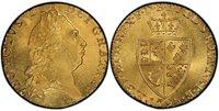 GREAT BRITAIN. George III. (King, 1760-1820). 1798 AV Guinea. PCGS MS64. GEORGIVS III DEI GRATIA ·. Laureate head right / F · D · B · ET · L · D · S · R · I · A · T · ET · E · - M · B · F · ET · H · REX ·. Crowned 4-fold spade arms. KM 609; SCBC 372