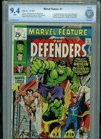 Marvel Feature #1 1971 CBCS 9.4 NM Marvel Comics 1st Defenders Amricons B5