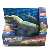 Adventure Force Mighty Megasaur Stomp & Roar T-Rex Green Battery Operated  Toy