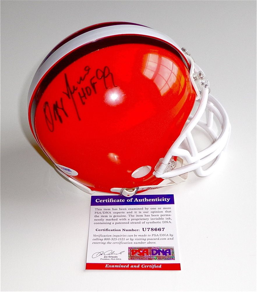 buy online ee431 642fc Ozzie Newsome Autographed Signed Hof 99 Cleveland Browns Throwback Mini  Helmet Memorabilia PSA/DNA U78667CUSTOM FRAME YOUR JERSEY
