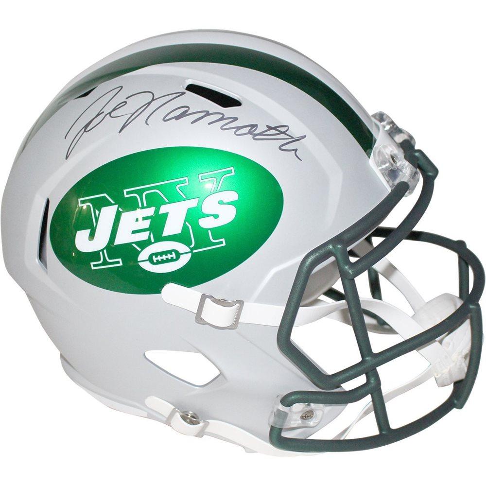 Joe Namath Signed New York Jets Speed Replica Blaze Helmet. Click To Enlarge f3a3bf4f6