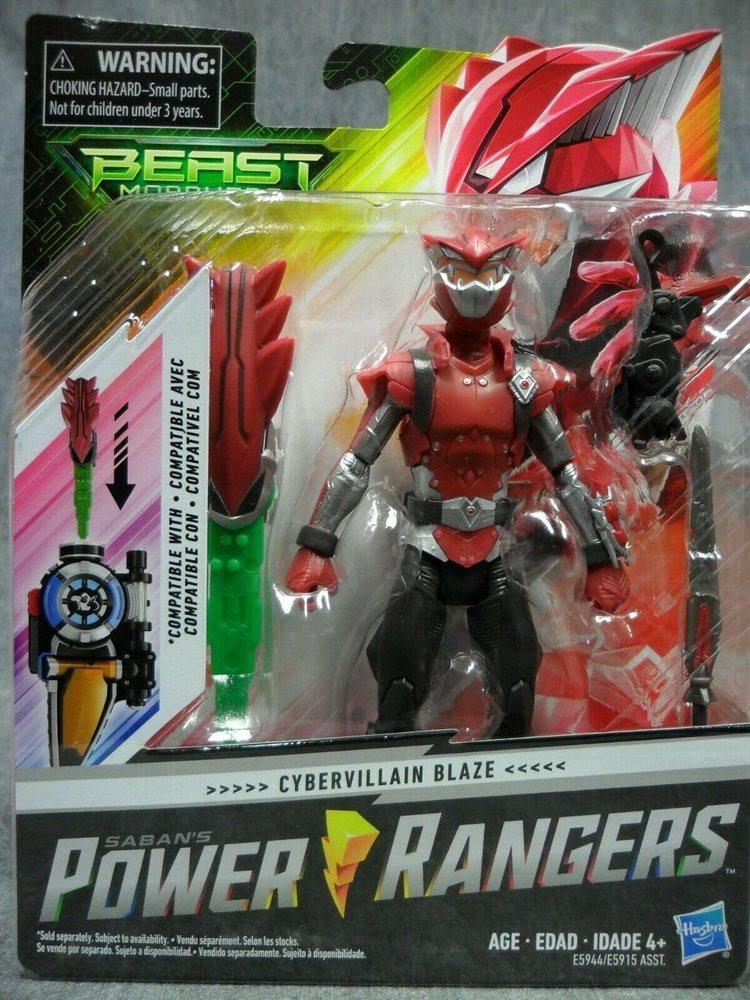 Blaze Beast Morphers Cybervillain 6-Inch Action Figure Toy Power Rangers NEW