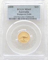2008 Australia Kangaroo $15 Gold 1/10oz Coin PCGS MS69