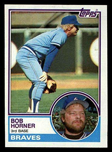 1983 Topps 50 Bob Horner Atlanta Braves Baseball Card Deans Cards 8 Nmmt
