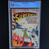 SUPERMAN #76 (1952)  CBCS 5.5 OW  BATMAN & SUPERMAN MEET & LEARN IDENTITIES!