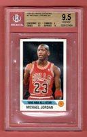 MICHAEL JORDAN 1990-91 PANINI STICKERS ALL STAR BGS 9.5 GEM MINT POP 8