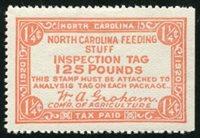 SRS NC FE101 1920 1 1/4c dull red orange mint, VF s/e