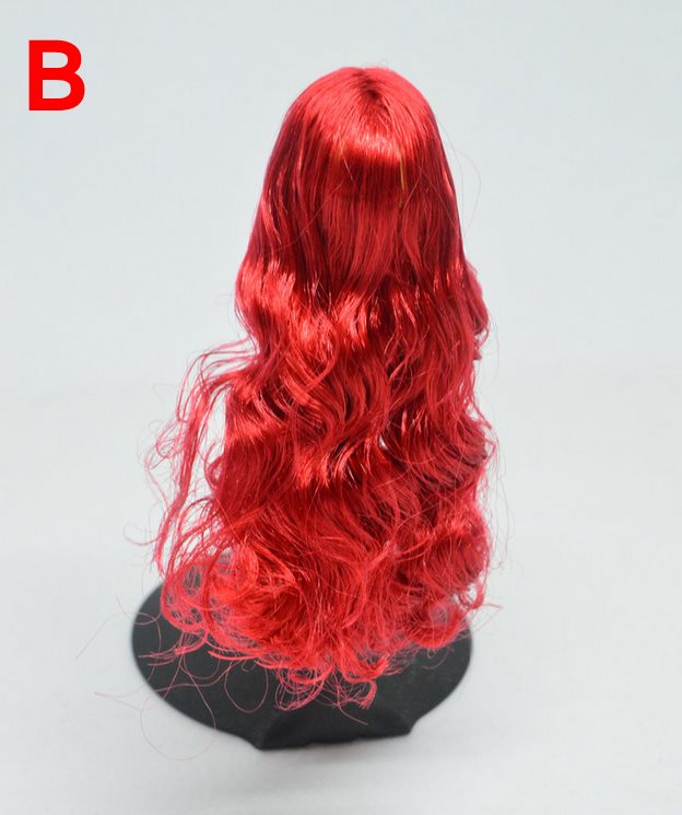 DSTOYS D-005 12/'/' Figure Body 1//6 Scale Female Women Red Long Hair Girl Head