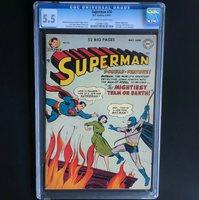 SUPERMAN #76 (1952)  CGC 5.5 OWW  BATMAN & SUPERMAN MEET & LEARN IDENTITIES!