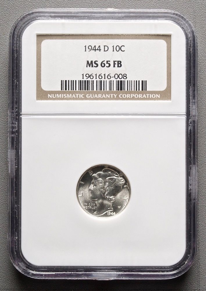 Full Bands! 1944 D Mercury Dime certified MS 66 FB by NGC