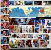 1993 US Commemorative Stamp Year Set; 2721-2806