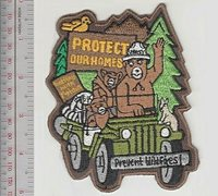 Smokey the Bear & Friends Saying Protect our Homes Prevent Wild Fires! US FS lg