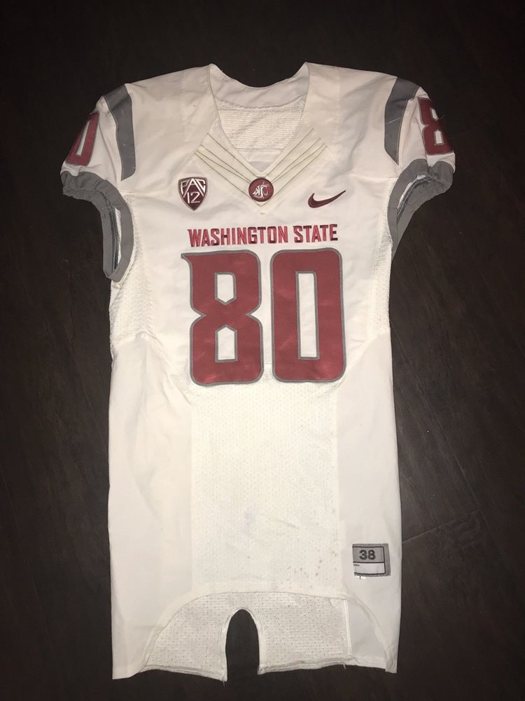the latest 0bc1a 0b087 Washington State Cougars Football Jersey Game Used Dom Williams White