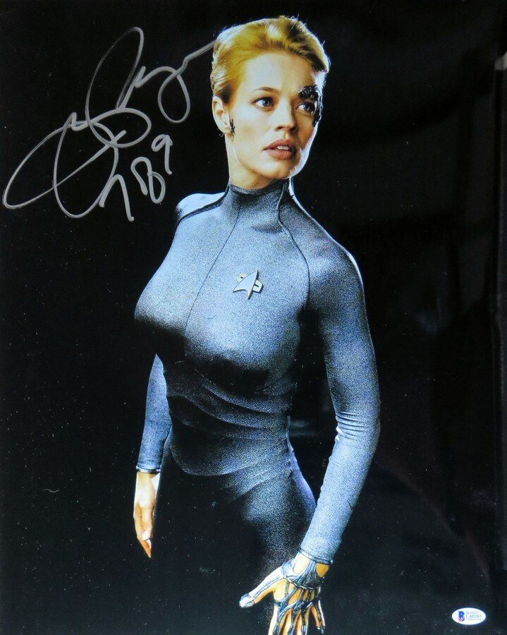 Jeri Ryan Signed Autographed 16x20 Photo Star Trek Voy