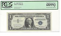 1957 FR-1619 Silver Certificate V-A block PCGS 68 PPQ Superb Gem New