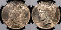 1922 NGC MS{63} V.PQ Error Coins THIS GEMMY PEACE DOLLAR ERROR HAS A LAMINATION RUNNING DOWN THE EAGLE'S WING ON THE REVERSE.PEACE DOLLAR ERRORS ARE RARE.
