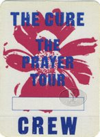 THE CURE 1989 PRAYER TOUR BACKSTAGE PASS Crew