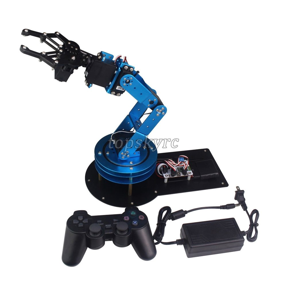 LeArm 6DOF Mechnical Robotic Arm with 6PCS Digital Servo and PS2 Handle  Control