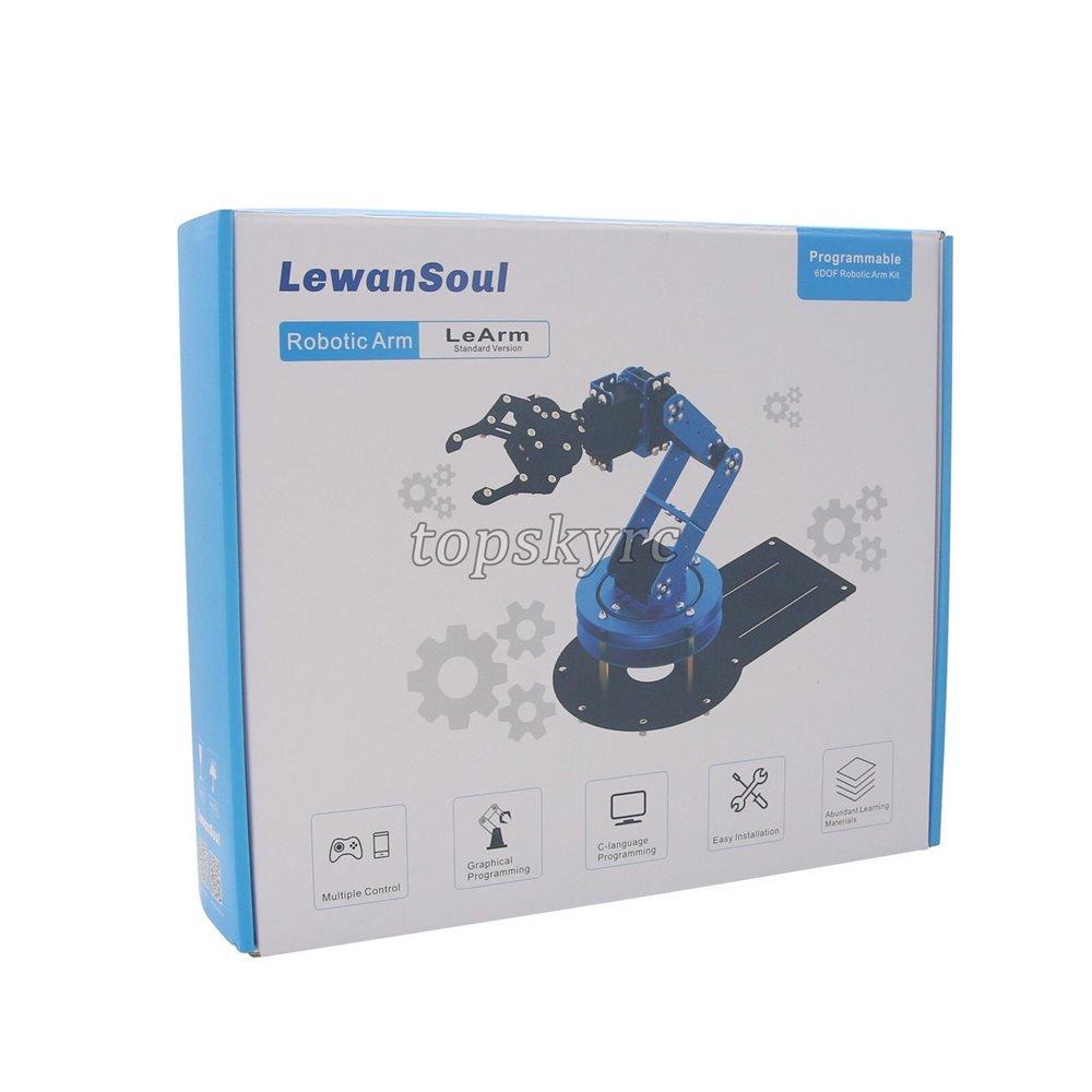 LeArm 6DOF Mechnical Robotic Arm with 6PCS Digital Servo and PS2 Handle  Control