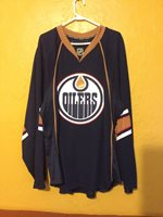 EDMONTON OILERS SIZE 58 REEBOK AUTHENTIC HOME JERSEY 2007-13 FIGHT STRAP