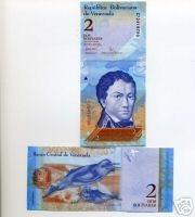 Venezuela P88 2007 2 Bolivers Unc Banknote Money