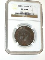 French Indo-china, 1889A, Bronze, Cent, NGC AU-58