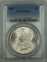 1885 No Mint Mark Morgan Dollar PCGS MS-63
