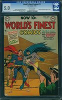 WORLD'S FINEST COMICS #71 CGC 5.0 Superman & Batman begin as a team! Key! RARE!