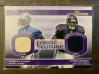 2003 Topps Bowman Fabric of the Future Charles Rogers/Andre Johnson 08/50