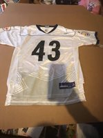 05ed41aeb REEBOK Youth XL 18-20 PITTSBURGH STEELERS Troy Polamalu 43 JERSEY SUPER  BOWL XLV