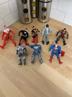 8 Superman Vintage Action Figures Made In The 90s By Hasbro And Kenner! Rare