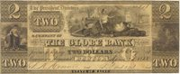 Bangor Globe Bank 1838 $2 Unl 104 75-G4 190-G20 A note with virtually no margins, the usual soil for this grade; engraved by New England Bank Note Co. F+