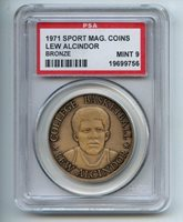 1971 Sport Mag Coins Bronze Lew Alcindor PSA 9