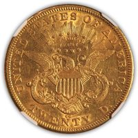 SOLD 1875 CC $20 Liberty Double Eagle NGC AU 53
