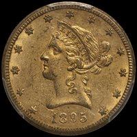 $10.00 - 1895-O PCGS MS62