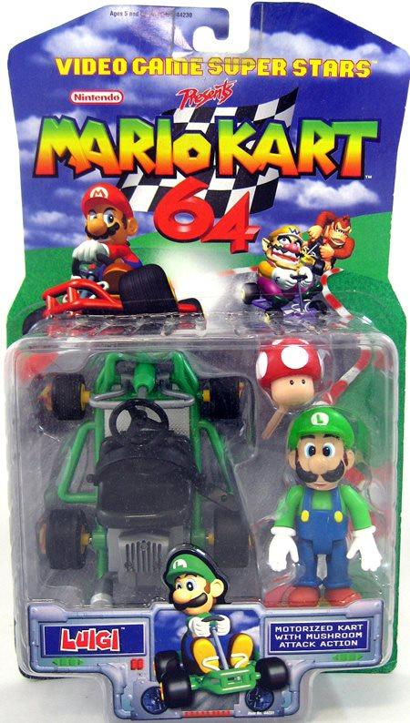 Mario Kart 64 4 Inch Action Figure Nintendo Presents Luigi
