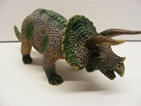 vintage pvc rubber 7in. DINOSAUR TRICERATOPS by AAA 1990s