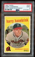 1959 Topps #322 Harry Hanebrink With Trade Statement PSA 9
