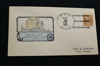 NAVAL COVER 1941 SHIP CANCEL HAND COLORED USCS CACHET USS NEVILLE (AP-16) (4139)