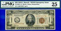 FR-2305* 1934-A $20 FRN (( Hawaii STAR )) PMG VF 25 # L00874037*-
