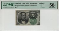 10 CENT FIFTH ISSUE POSTAL FRACTIONAL CURRENCY FR.1264 PMG CH ABOUT UNC 58 NET