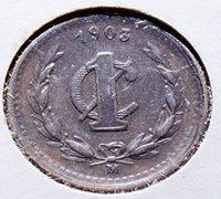 1903 MX X0071 Mexico 1 Centavo vintage DE PO-01