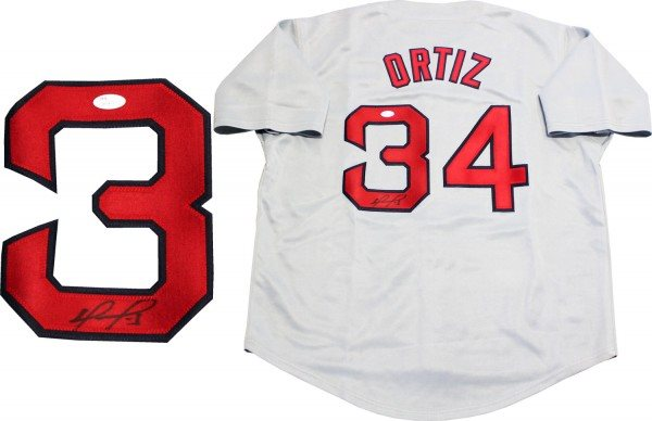 the best attitude 6da94 8f790 David Ortiz Autographed Boston Red Sox Grey Jersey (JSA)