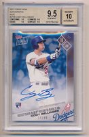 2017 Topps Now CODY BELLINGER Rookie RC #270B Auto BLUE #14/49 GEM BGS 9.5/10