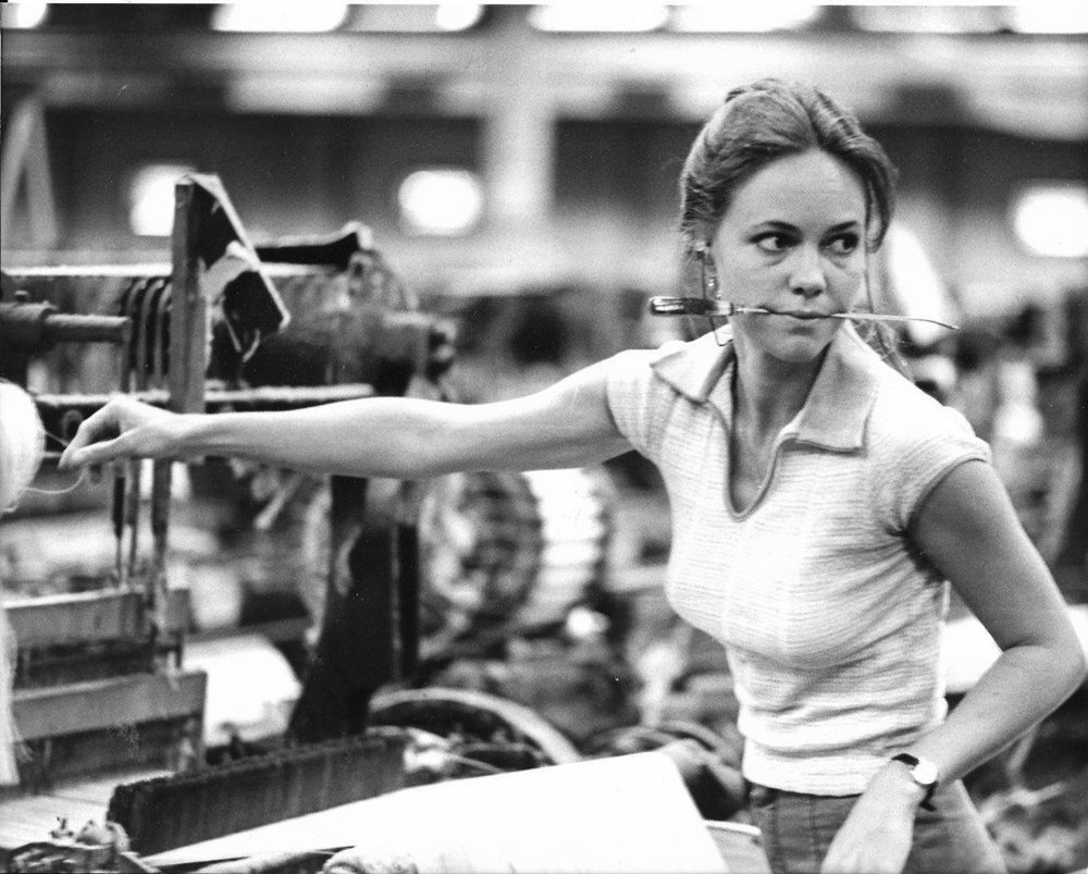 """Sally Field working in factory in """"Norma Rae"""" - 1979 Vi"""