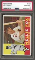 "1960 TOPPS #100 NELLIE ""NELSON"" FOX PSA 8 NM-MT FRESHLY GRADED (2210)"