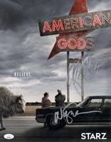 NEIL GAIMAN & RICKY WHITTLE Signed AMERICAN GODS 11x14 PHOTO Autograph JSA COA