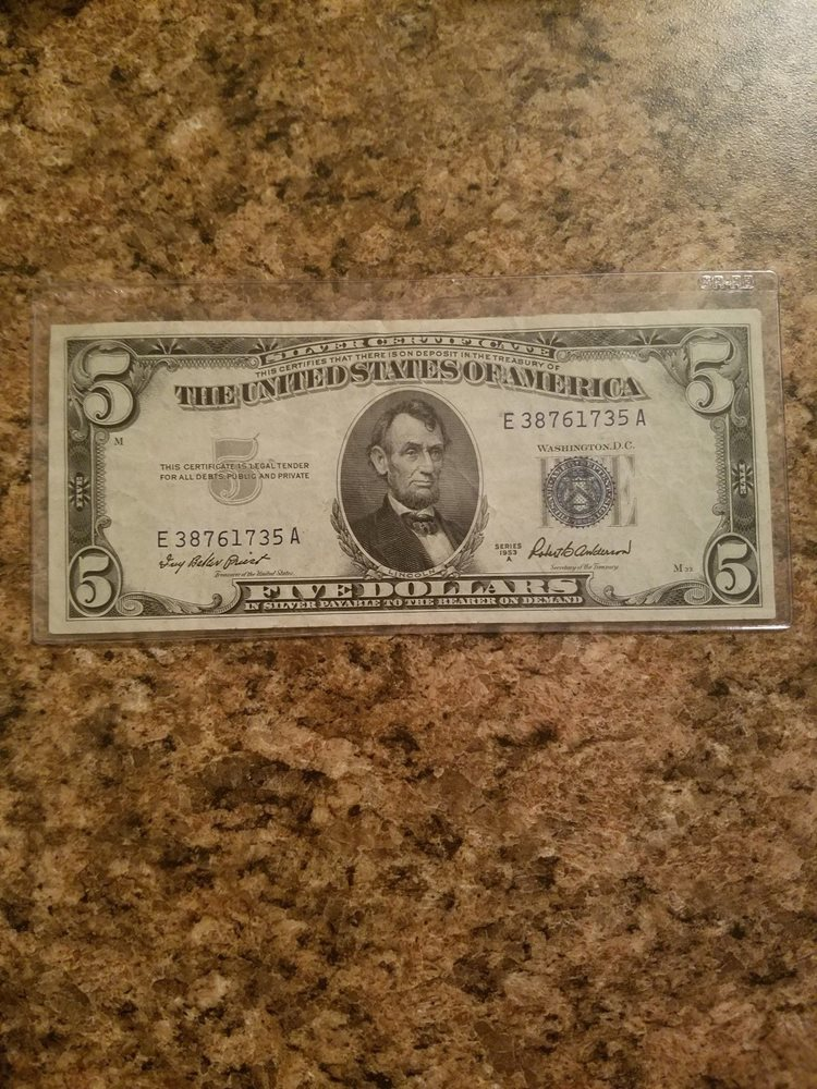 87 1953 Silver Certificates Antique Money Value Of 1 Silver